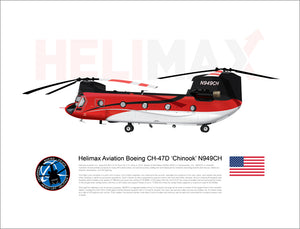 Helimax Aviation Boeing CH-47D 'Chinook' N949CH - FLYING