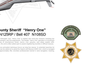 "Sonoma County Sheriff  ""Henry One"" Bell 206 L3  N125RP / Bell 407  N108SD"