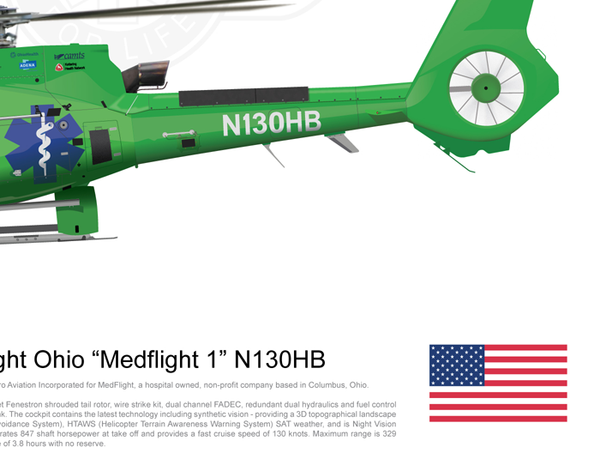 "MedFlight Ohio Airbus EC130 ""MedFlight 1"" N130HB"