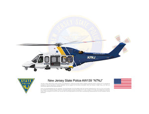 New Jersey State Police AgustaWestland AW139 N7NJ - LANDED
