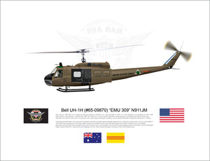 "Bell UH-1H Huey ""EMU 309"" N911JM - FLYING"