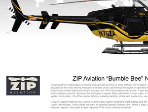 "ZIP Aviation Bell 407 ""Bumble Bee"" N76ZA"