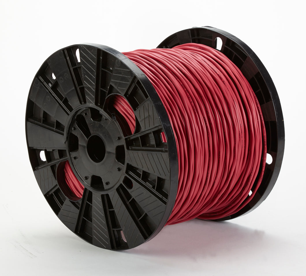 BELDEN 2/18 SOLID FIRE RED 18 AWG