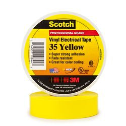 3M Yellow Electrical Tape Scotch