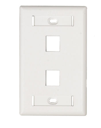 BELDEN - KSTONE FACEPLATE 2-PORT FLUSH