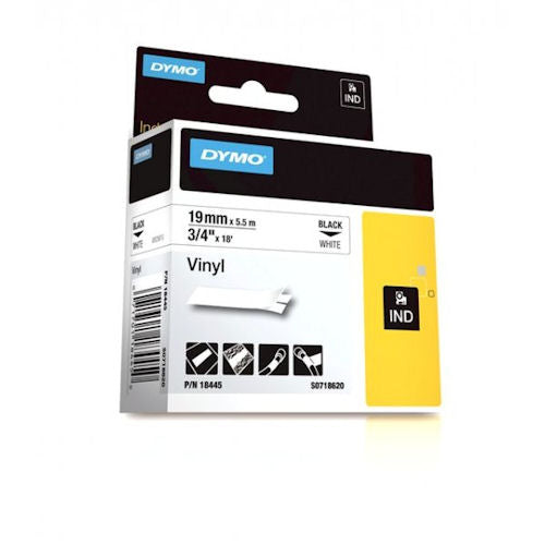 DYMO - RHINO 3/4 WHITE VINYL LABEL