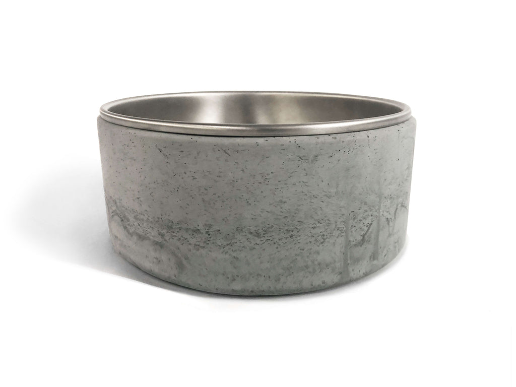 Modern Dog Bowl & Cement Stand