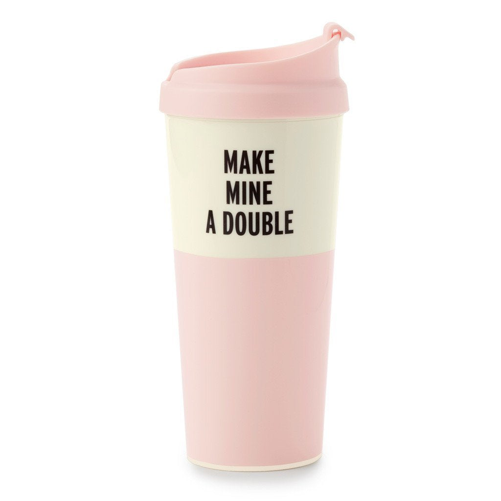 Kate Spade New York Women's Make Mine a Double Thermal Mug, Pink, One Size