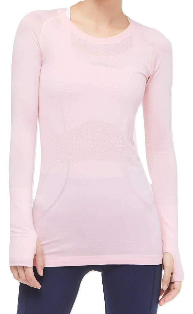 Lululemon Swiftly Tech Long Sleeve Crew (Blissful Pink,  10)