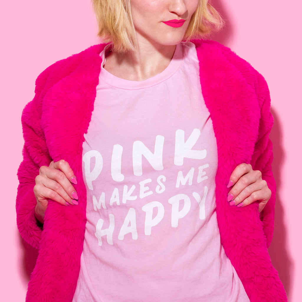 """Pink Makes Me Happy"" Soft Tee"
