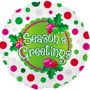 Season's Greetings Polka Dots
