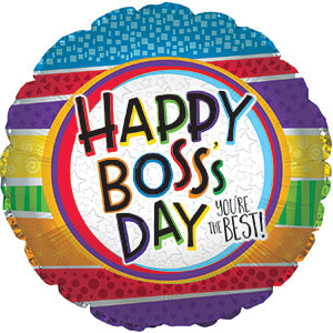 Best Boss Stripes Air-Filled Stick Balloon