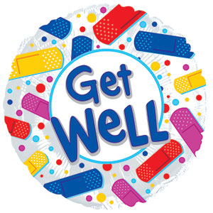 Get Well Colorful Bandaids
