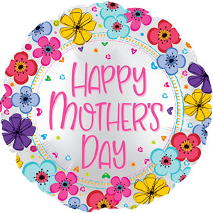 Happy Mother's Day Floral Border