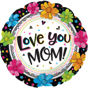 Love You Mom Boho Black