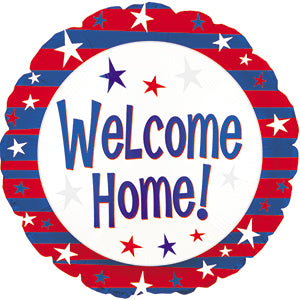 Welcome Home Red, White, and Blue