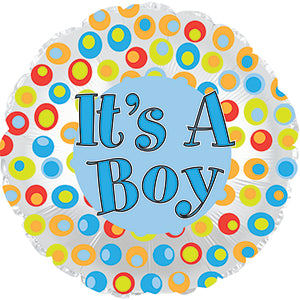 It's a Boy Colorful Dots
