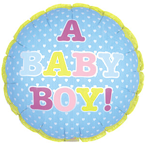 A Baby Boy Air-Filled Stick Balloon