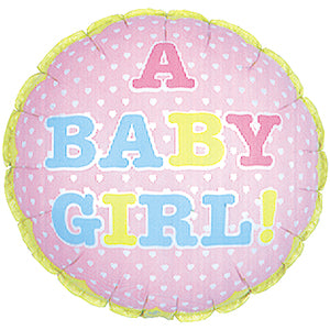 A Baby Girl Air-Filled Stick Balloon