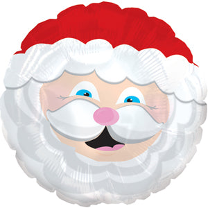 Smiling Santa Air-Filled Stick Balloon