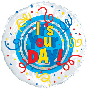 It's Your Day Primary Air-Filled Stick Balloon