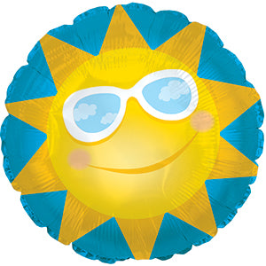 Sun with Glasses Air-Filled Stick Balloon