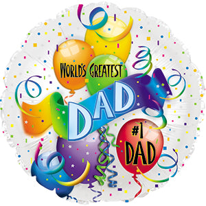 World's Greatest Dad Air-Filled Stick Balloon