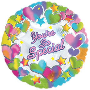 You're So Special Hearts and Stars Air-Filled Stick Balloon