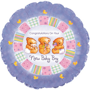 Baby Boy Patchwork Air-Filled Stick Balloon
