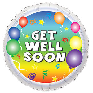 Get Well Party Balloons Air-Filled Stick Balloon
