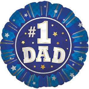 #1 Dad Air-Filled Stick Balloon