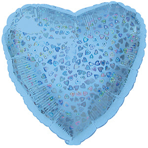 Light Blue Heart Pattern Dazzle Heart