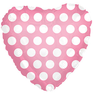 Pink with White Polka Dots Heart