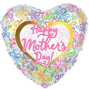 Happy Mother's Day Graphic Floral