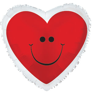 Red Smiley Heart with Border