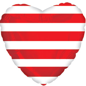 Red Stripe Heart