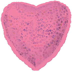 Pink Heart Pattern Dazzle Heart