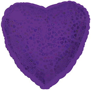 Purple Heart Pattern Dazzle Heart