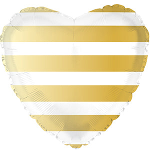 Gold Stripe Heart