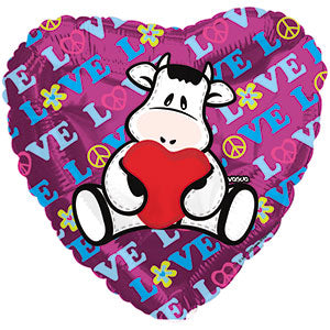 Pelox Love Cow L. Air-Filled Stick Balloon