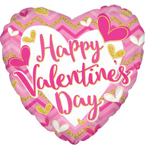 Happy Valentine's Day Pink & Glitter