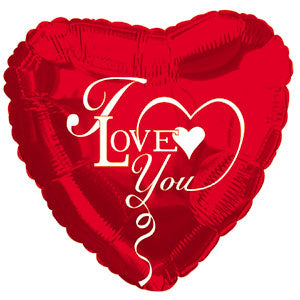 I Love You Type Red and White