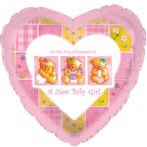 A New Baby Girl Patchwork Air-Filled Stick Balloon