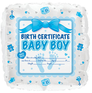 Baby Boy Birth Certificate