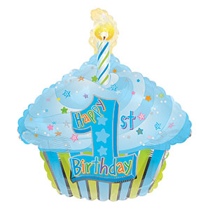 1st Birthday Blue Cupcake