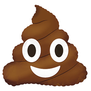 Poop Emoticon Air-Filled Stick Balloon
