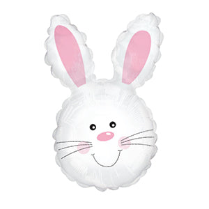 Easter Bunny Smile Air-Filled Stick Balloon