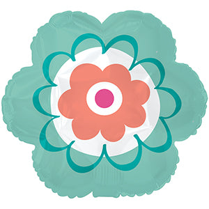 Turquoise Scalloped Flower