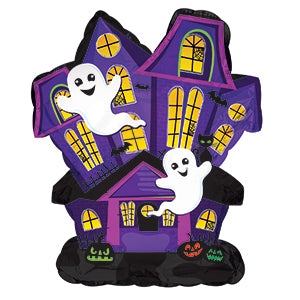 Haunted House Air-Filled Stick Balloon
