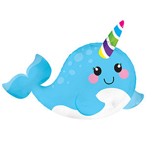Narwhal Air-Filled Stick Balloon